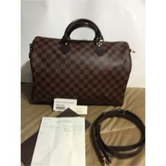 Louis Vuitton Bandouliere speedy 35 Authentic Louis Vuitton Damier speedy 35 like new. Box, duster, shaper and shoulder strap included ****NO TRADES!!!**** price firm here discounts available via ️️ Louis Vuitton Bags Shoulder Bags