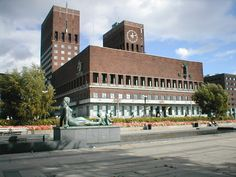 Oslo City Hall designed by Arnstein Arneberg and Magnus Poulsson, completed 1950