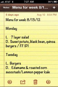 Meal planning & weekly menu apps