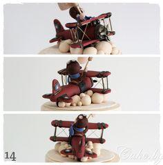 Торта с ретро самолет – Cake.bg