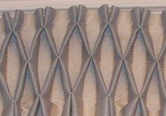 smocking close-up, on-pattern/stripe!