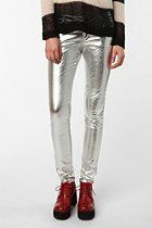 WANT! Tripp NYC Silver Vinyl Pant  #UrbanOutfitters