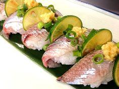 新鮮イワシの握り寿司