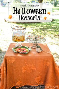 Three semi-homemade Halloween dessert ideas using Sara Lee Desserts from @malleryschuplin.