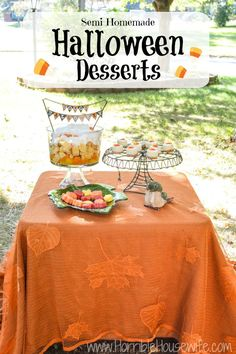 Here are 3 semi-homemade Fall and Halloween desserts that require no baking. Sponsored by Sara Lee #UniquelyYours