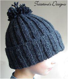 Beginner Easy Ribbed Pom Hat  a8b5b378d2e