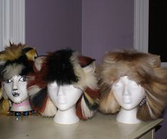 "Tutorial: How to make ""Cats"" wigs... or really just making wigs that have the look of fur"