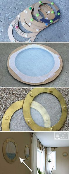 Craft these lifelike portholes made out of cardboard, the result is amazing.