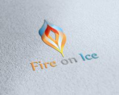 Fire and Ice come together in this colorful and abstract logo with the mix of hot and cold.