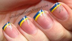 Wolverine French Tip Nail Art