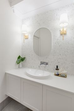 [New] The 10 Best Home Decor (with Pictures) - Cant go past an all-white bathroom! The bonus its always in style Featuring Nieve White vanity top by Project by Style & Design . White Bathroom Decor, Bathroom Vanity Tops, Bathroom Renos, Laundry In Bathroom, Bathroom Styling, Bathroom Interior Design, Bathroom Renovations, Upstairs Bathrooms, Master Bathrooms