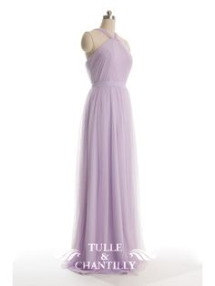 Pleated Long Pastel Passion Tulle Bridesmaid Dress 1