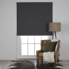The MAISON Roller Blind Charcoal is part of freedom's range of contemporary furniture and homewares and is available to buy online or in stores across Australia. House Blinds, Blinds For Windows, Curtains With Blinds, Sheer Roller Blinds, Classic Bathroom, Roller Shades, Woodland Nursery Decor, Small Living