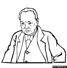 sir winston churchill online coloring page