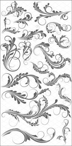 $4 15+ Swirl Elements by TrueMitra Designs on @creativemarket