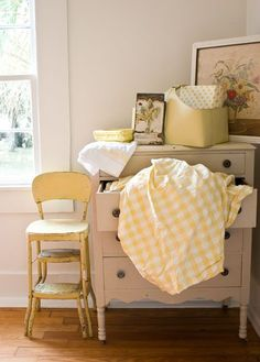 love the pale yellow stool