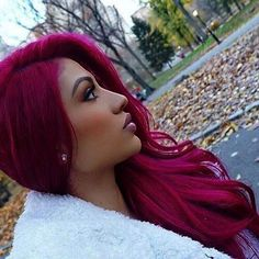 50 magenta hair color ideas for brave women - http: // toptre .- 50 magenta hair color ideas for brave women – # brave – Magenta Hair Colors, Hair Color Dark, Cool Hair Color, Purple Hair, Dark Pink Hair, Hot Pink Hair, Burgundy Hair, Purple Lilac, Beautiful Hair Color