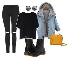 """""""Untitled"""" by solischloe on Polyvore featuring Topshop, Chicwish, Dr. Martens, Wood Wood and Mark Cross"""