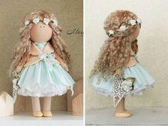 Belleza de muñeca muñeca de tela colores por AnnKirillartPlace