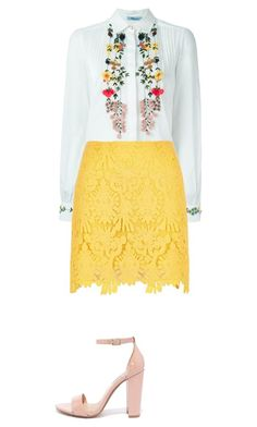 """""""Fancy floral #pentecostaloutfitideas"""" by kristin-weatherly on Polyvore featuring Blumarine, River Island and Steve Madden"""