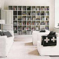 If you have the space, wall-to-wall bookshelves are perfect for a reading room.