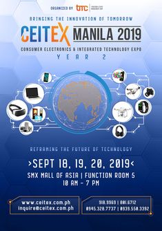 See you at happening on September 2019 at the SMX Convention Center, Mall of Asia Complex, Pasay City! Function Room, Convention Centre, Upcoming Events, Manila, Integrity, Philippines, Consumer Electronics, Innovation, How To Memorize Things