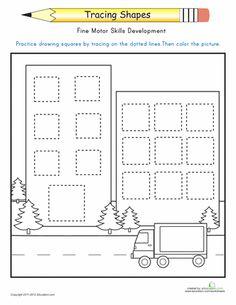 Worksheets: Trace the Squares