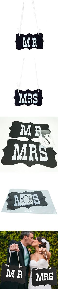 Mr and Mrs Photo Props, Chair Signs Banner , Wedding Decorations, Bride and Groom Signs, Photo Booth Signs, Unique Wedding Party Decor