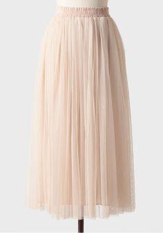 Broadway Dreams Midi Skirt In Cream