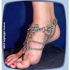 Chainmail & More Diamond barefoot sandal, Chainmail jewelry ...