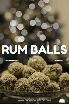 the perfect frugal treat rum balls Frugal Christmas, Christmas Ham, Christmas Snacks, Cheap Christmas, Christmas Cooking, Holiday Treats, Holiday Recipes, Simple Christmas, Christmas Recipes