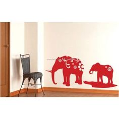 Monde Elephant And His Kid Wall Decals