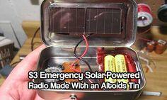 $3 Emergency Solar-Powered Radio Made With an Altoids Tin