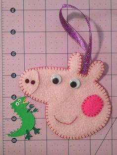 Handmade Peppa Pig inspired Christmas Tree by CraftyMamiPig