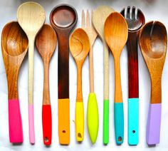 painted wooden spoons. i can't even begin to describe how wonderful these are.