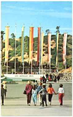 Los Angeles Zoo, Griffith Park.  This is how the entrance looked when I started going.