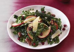 Kale Salad with Pomegranate and Maple Pecans | Vegetarian Times
