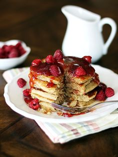 5-Grain Pancakes with Flax Mix