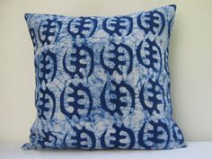 Throw Pillow Cover 17 x 17 18 x 18 Batik Print Tie by AddisonMade, $55.00