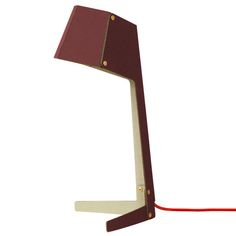 Burn After Reading table lamp, red, by &Bros.