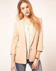 Can't go wrong with a nude blazer!  (ASOS Tux Blazer In Loose Fit)