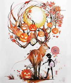 Luqman Reza Mulyono Indonesian Artist - Jongkie, has created Gorgeous Watercolor Paintings. he is very talented in the art of watercolor painting, his work was Art And Illustration, Watercolor Illustration, Arches Watercolor Paper, Watercolor Paintings, Watercolor Techniques, Watercolors, Animal Drawings, Art Drawings, Deer Art