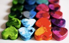 Make your own crayon hearts! 3 Fun Recycle crafts to teach your little one's to reduce, reuse, recycle this Valentine's Day!