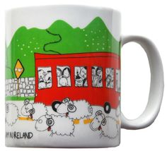 Traffic jam  in Ireland mug - www.olyart.ie