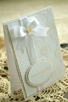 Wedding Card Ideas Design Embossing Folder For 2019 Homemade Greeting Cards, Homemade Cards, Scrapbooking, Scrapbook Cards, Wedding Anniversary Cards, Wedding Cards, Hexagon Cards, Engagement Cards, Embossed Cards