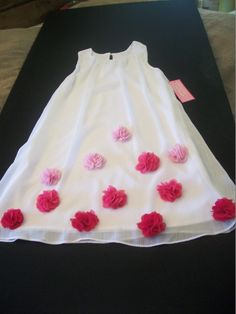 A-Line Crepe & Cottom Girls Dress Peaches N Cream White & Pink| Little Cousins Boutique Items