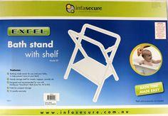Infa-Secure Baby Bath Stand With Shelf   Nursery Bathtime