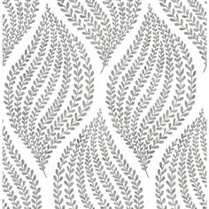 The A - Street Prints Arboretum Fern Wallpaper is a beautiful choice for the nature-lover with an appreciation for contemporary decor styles. Green Leaf Wallpaper, Fern Wallpaper, Cream Wallpaper, Wallpaper Stores, Botanical Wallpaper, Wallpaper Samples, Wallpaper Roll, Home Depot Wallpaper, Accent Wallpaper