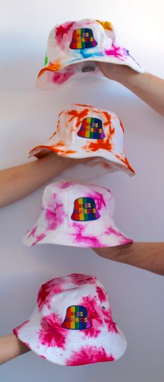 TYE DYE Rainbow MULTI COLOR #2 Bucket Hat Unisex