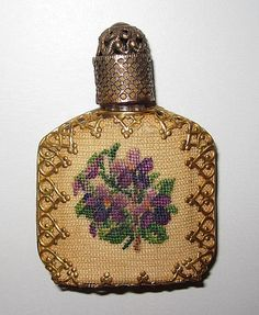Vintage Perfume Pettipoint Decoration from phalan on Ruby Lane